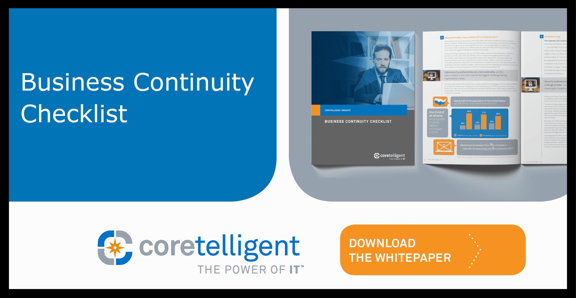 Business Continuity Checklist Whitepaper