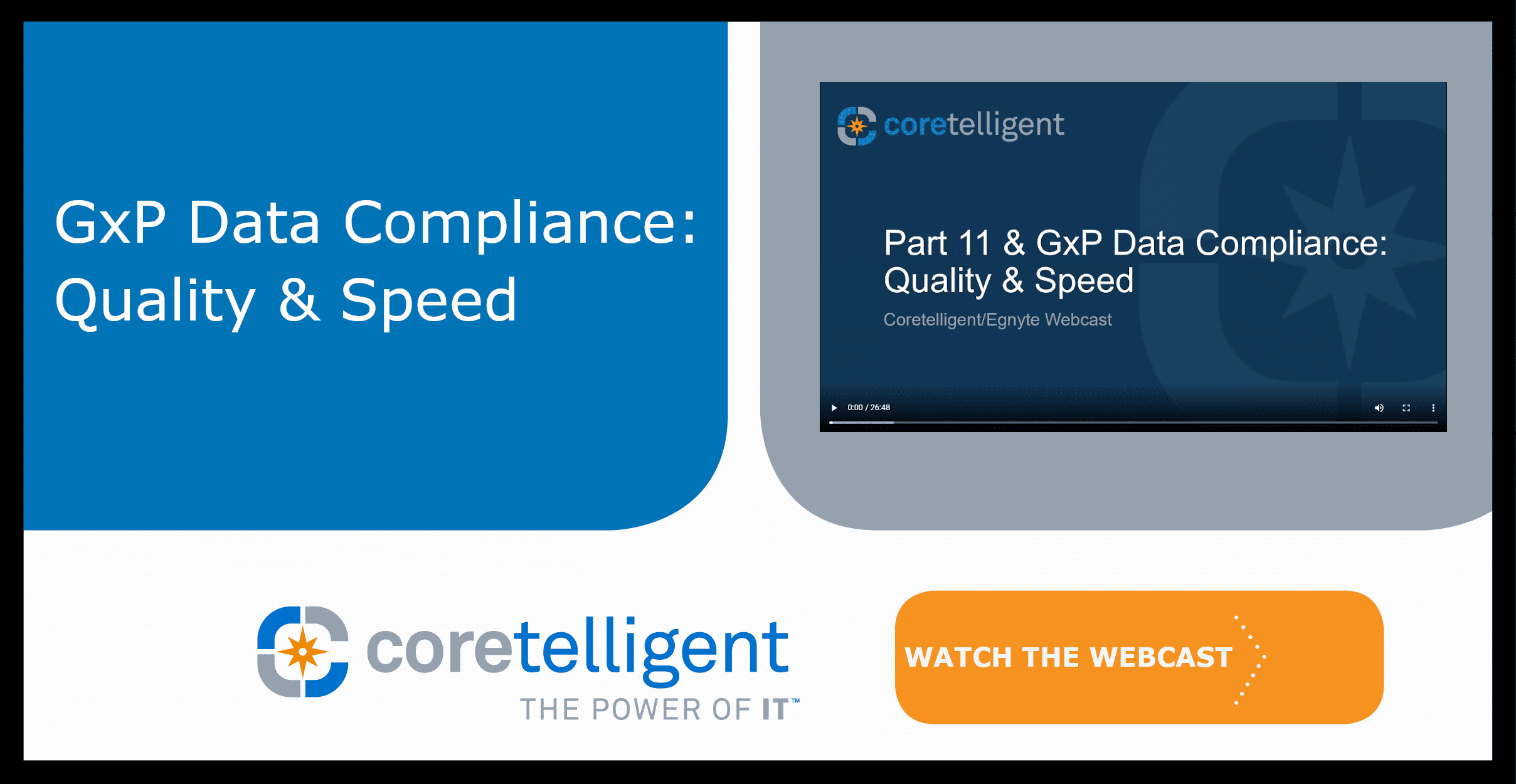 GxP Data Compliance: Quality and Speed Webcast