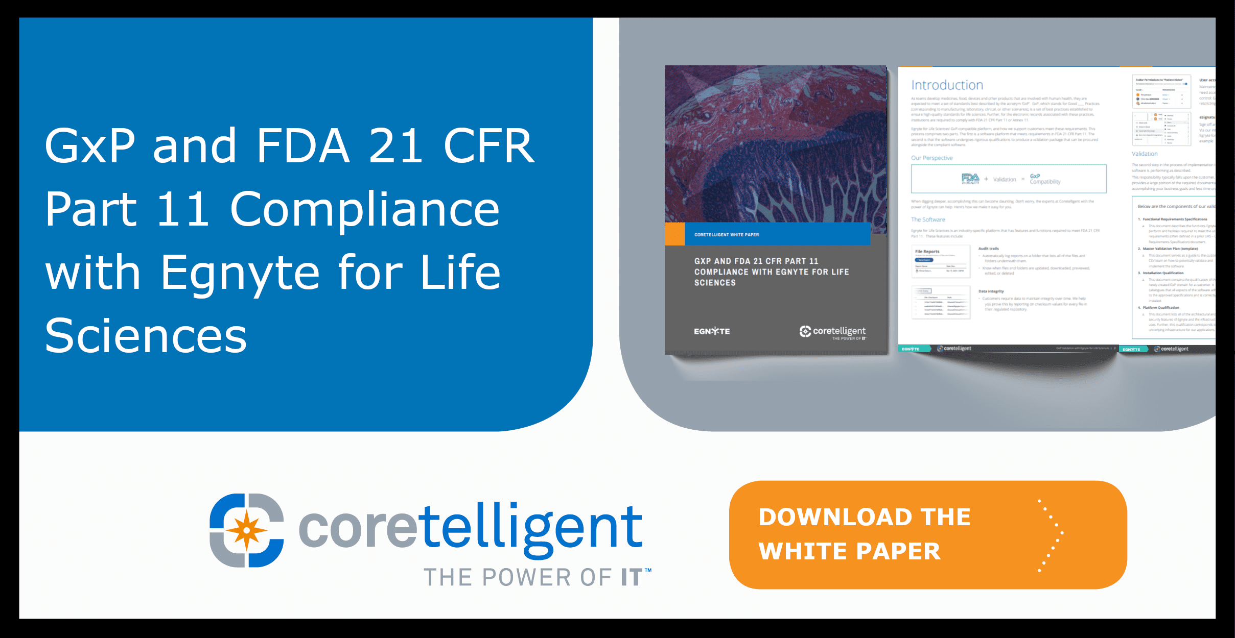 GxP and FDA 21 CFR Part 11 Compliance with Egnyte for Life Sciences Whitepaper