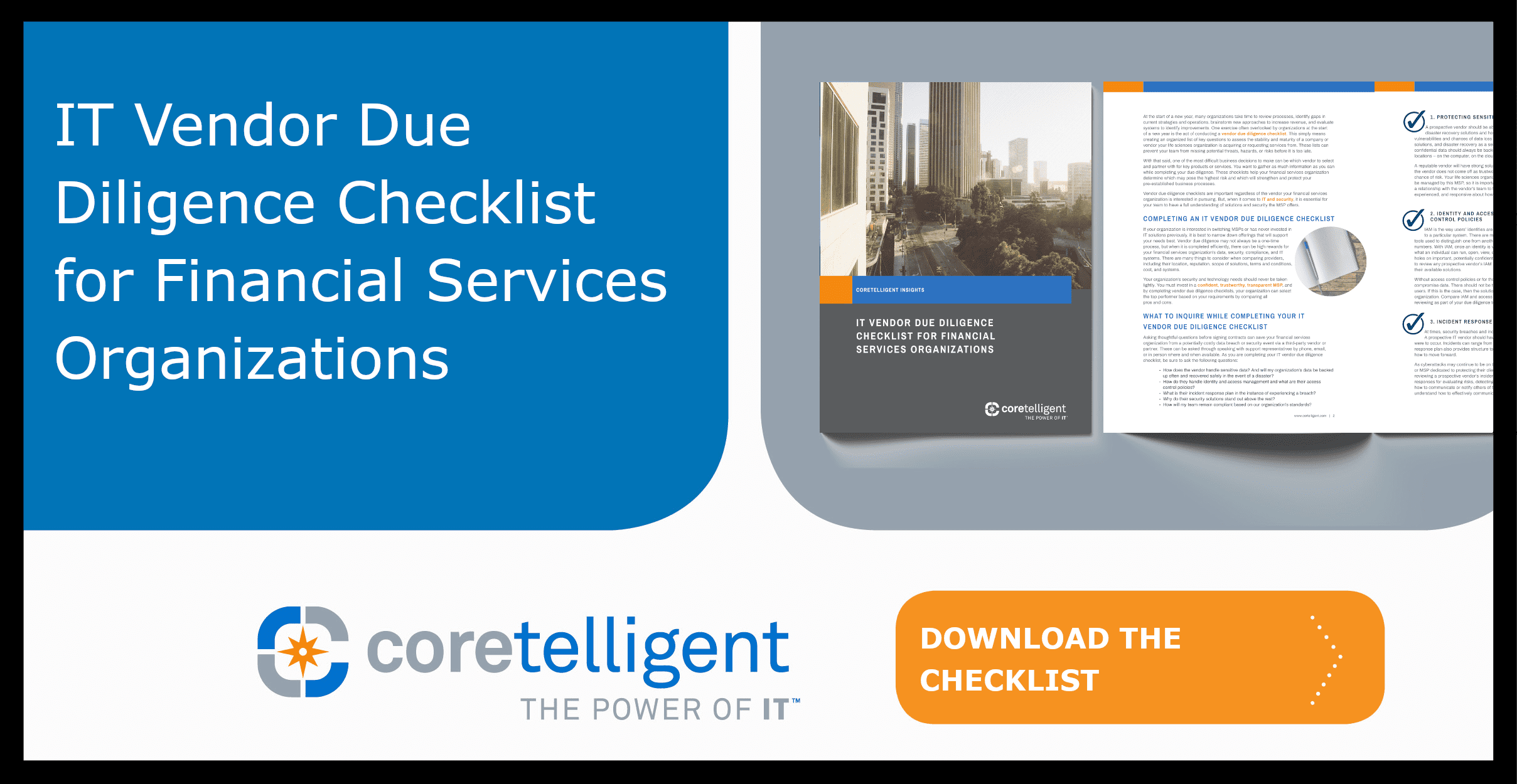 IT Vendor Due Diligence Checklist for Financial Services Organizations