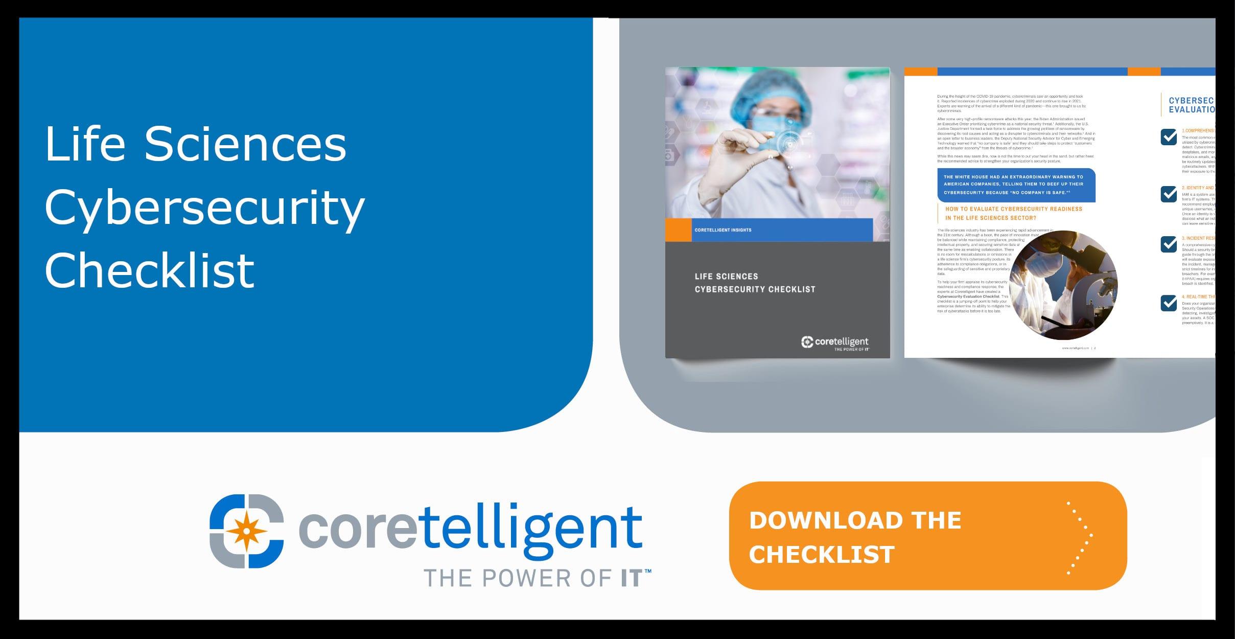 Life Sciences Cybersecurity Checklist
