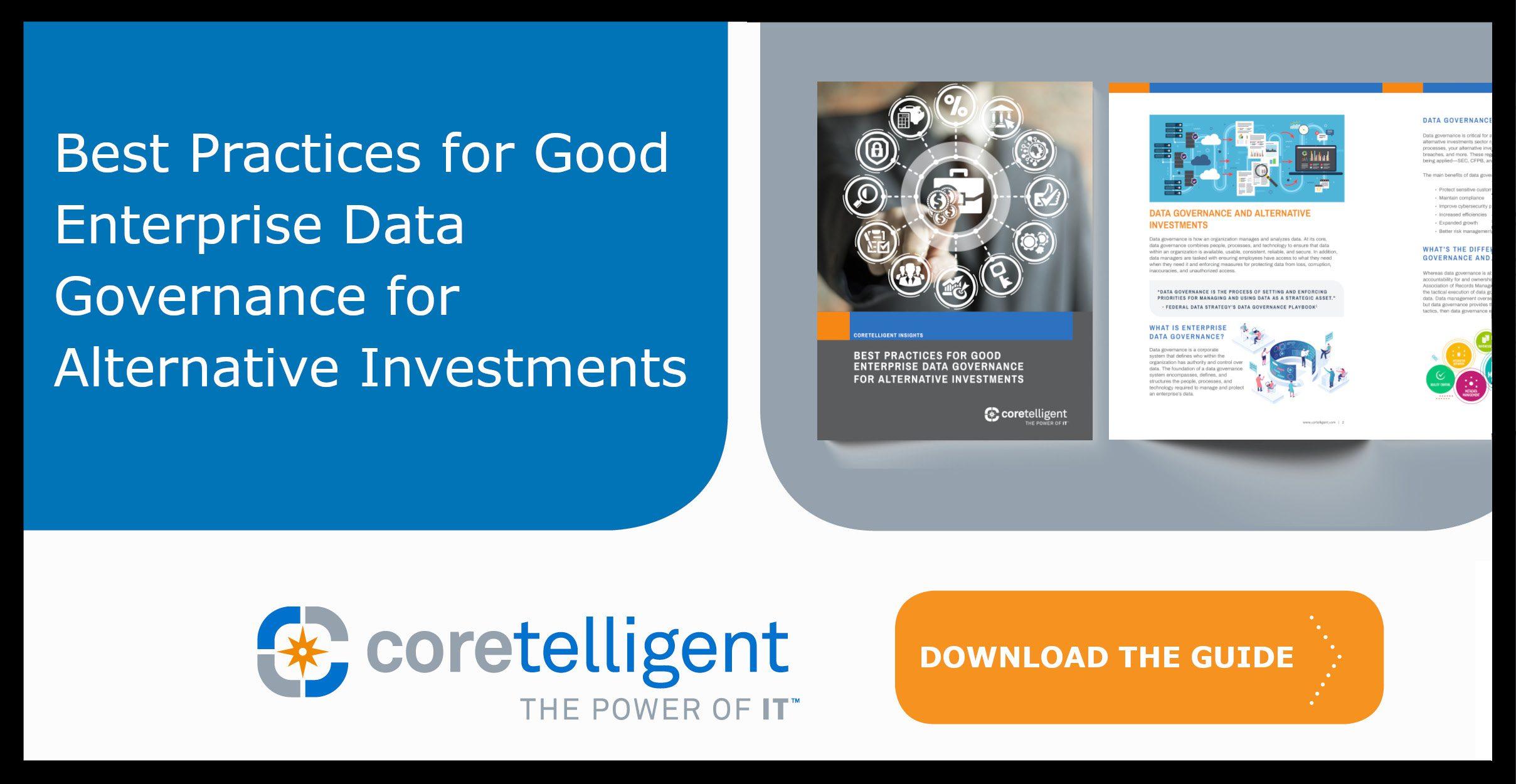 Best Practices for Good Enterprise Data Governance for Alternative Investments