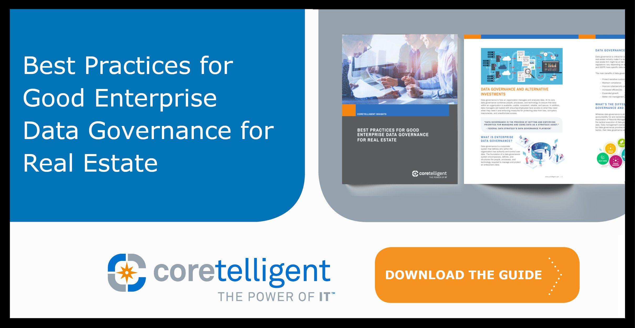 Best Practices for Good Enterprise Data Governance for Real Estate